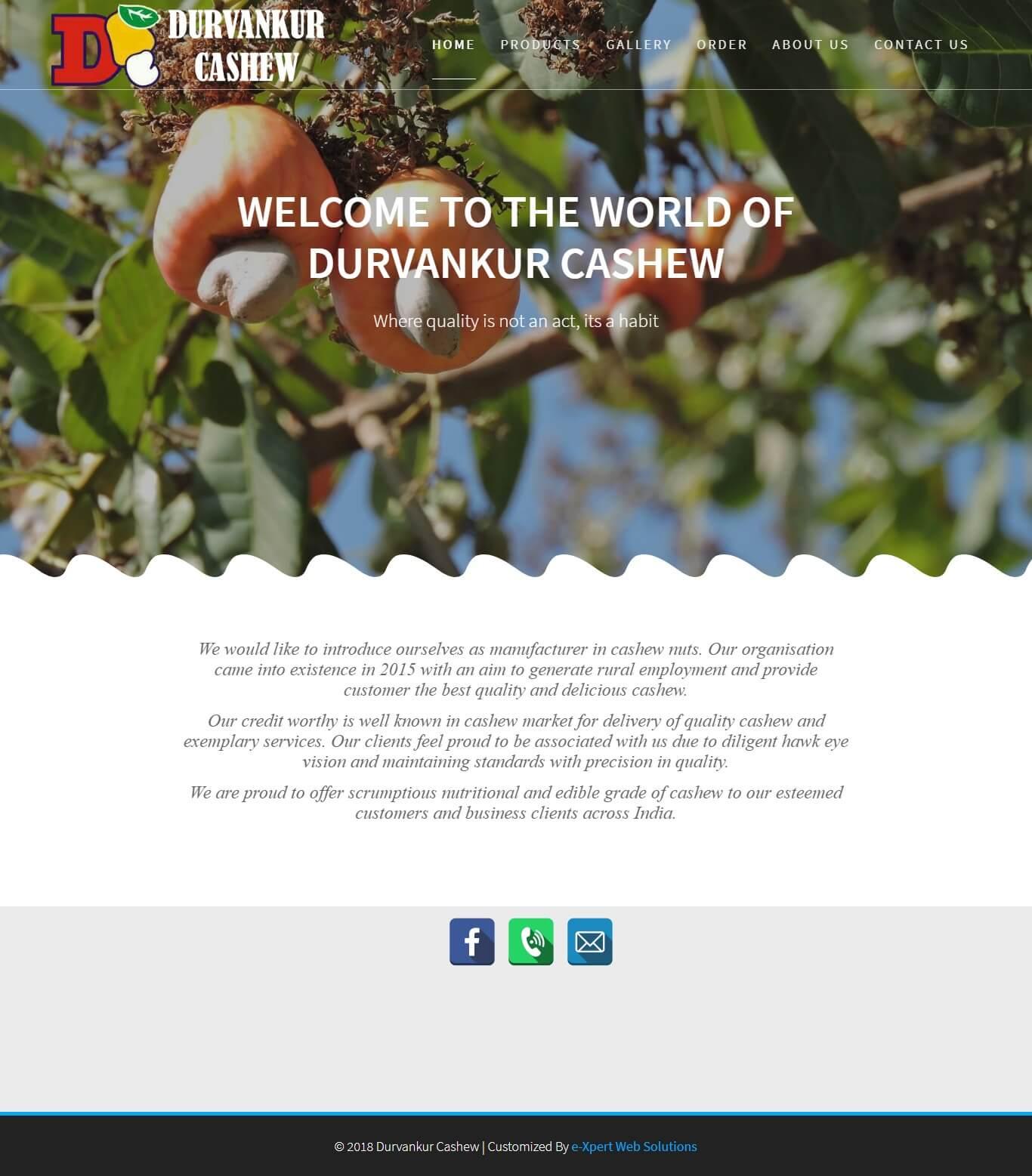 Durvankur Cashew, Kudal
